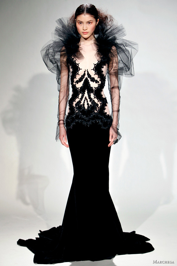 marchesa fall 2011 fashion