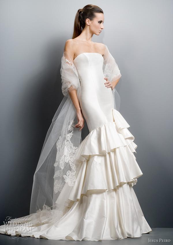ruffle wedding dress 2011