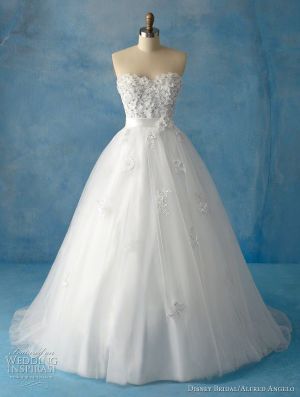 Snow White wedding dress by Disney Bridal and Alfred Angelo for Disney's Fairy Tale Weddings
