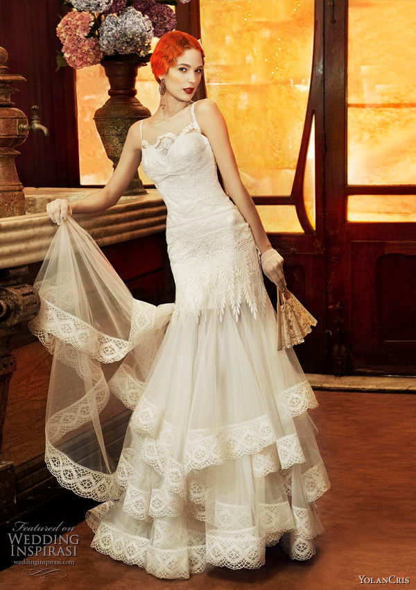 Yolan Cris 2011 Revival Vintage bridal collection Monaco wedding dress
