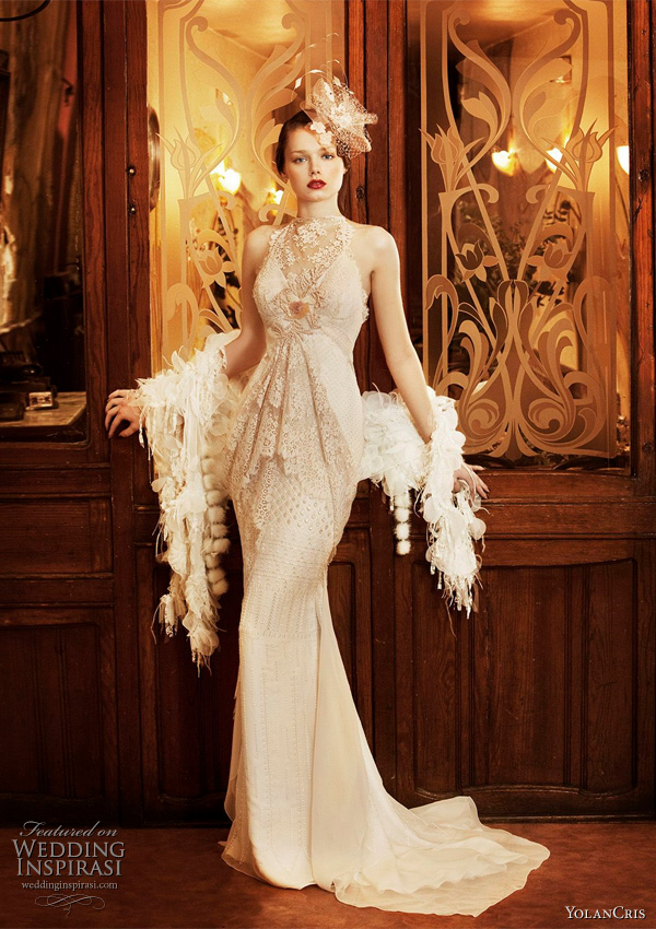 Yolan Cris wedding dresses 2011 - Revival Vintage collection of roaring 20s art deco style 1920s inspired wedding dress Ronda