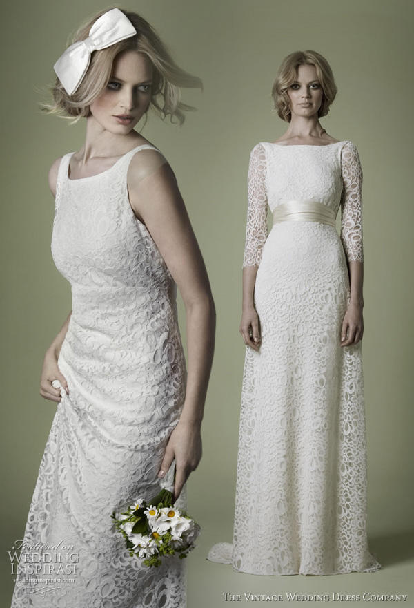 The vintage wedding dress company decades lace bridal for 1960 style wedding dresses