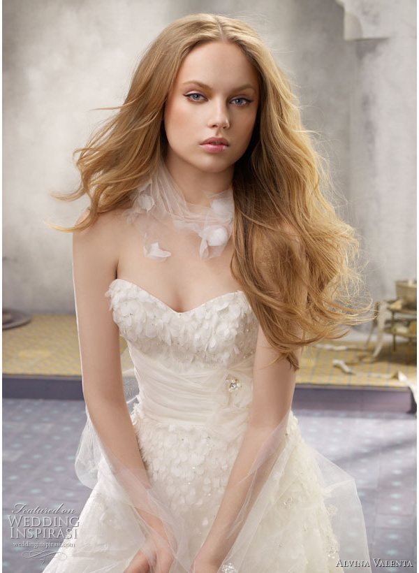 alvina valenta wedding dress Silk faced satin modified Aline wedding dress