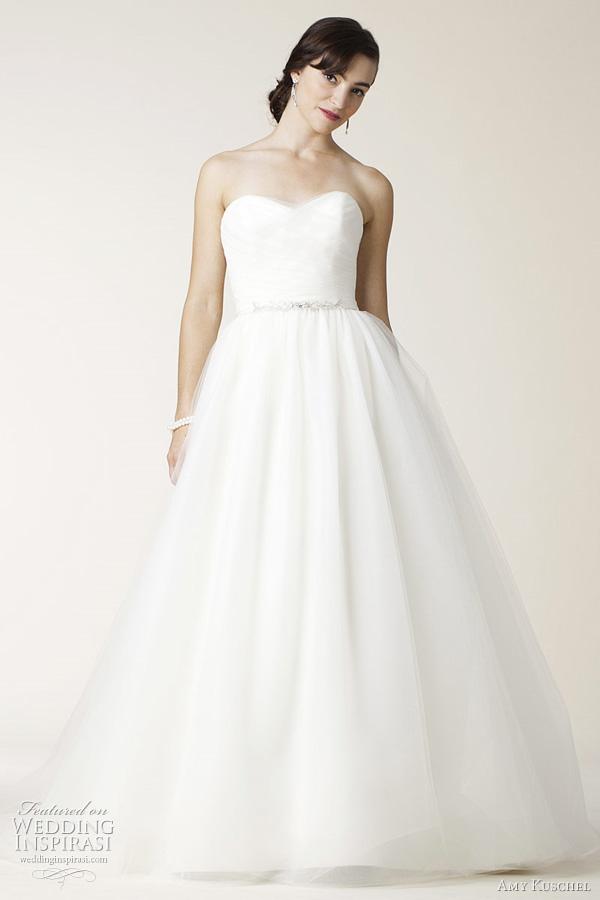 amy kuschel wedding dress eureka! strapless ball gown