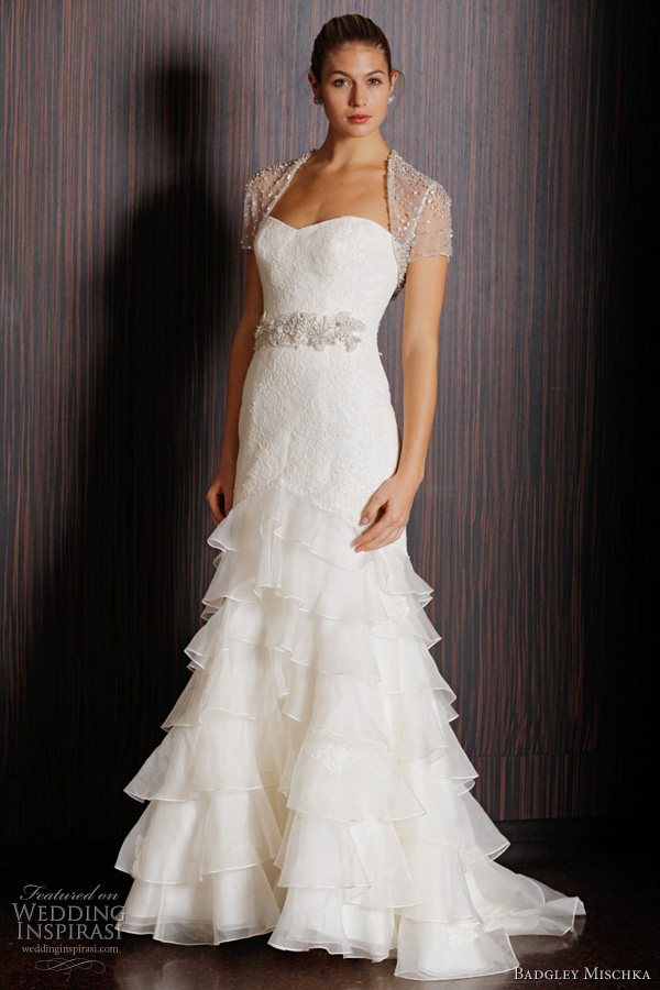 badgley mischka bridal - castellano wedding dress