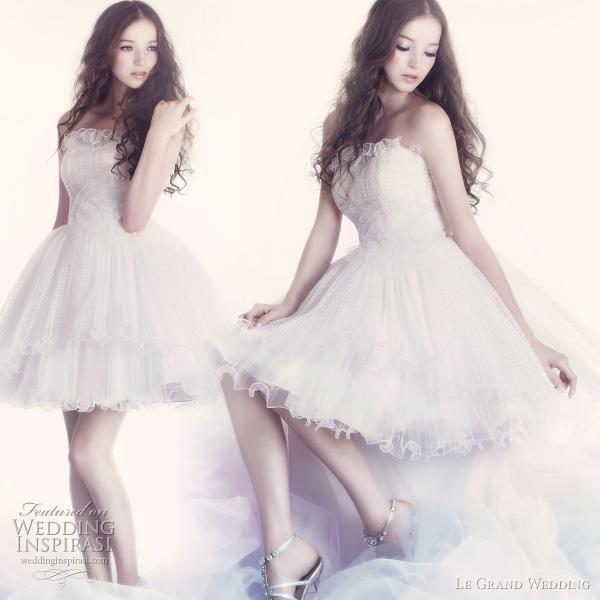 ballet wedding dresses - cute, short wedding dresses