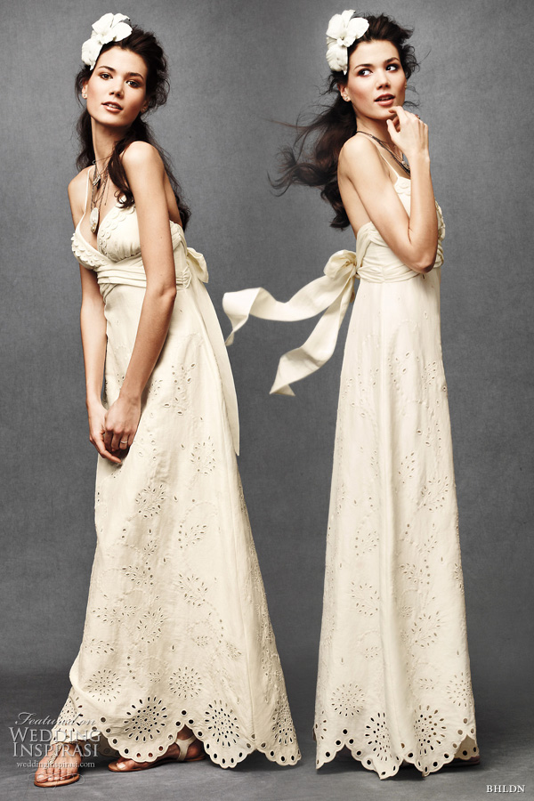 bhldn anthropologie wedding dress 2011: eyelet medley sheath gown