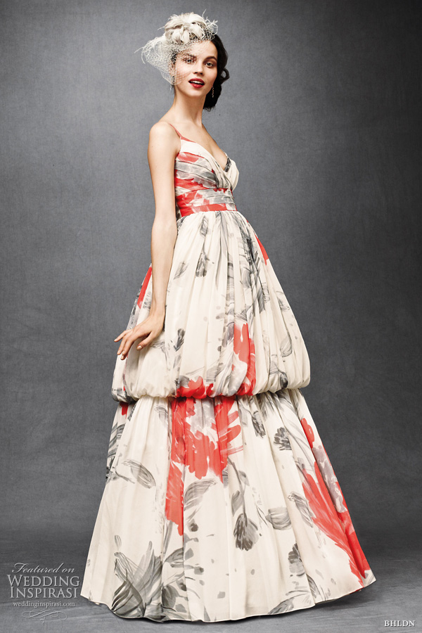 bhldn anthropologie wedding dresses 2011 -  printed floral Zinnia gown Beth Bowley