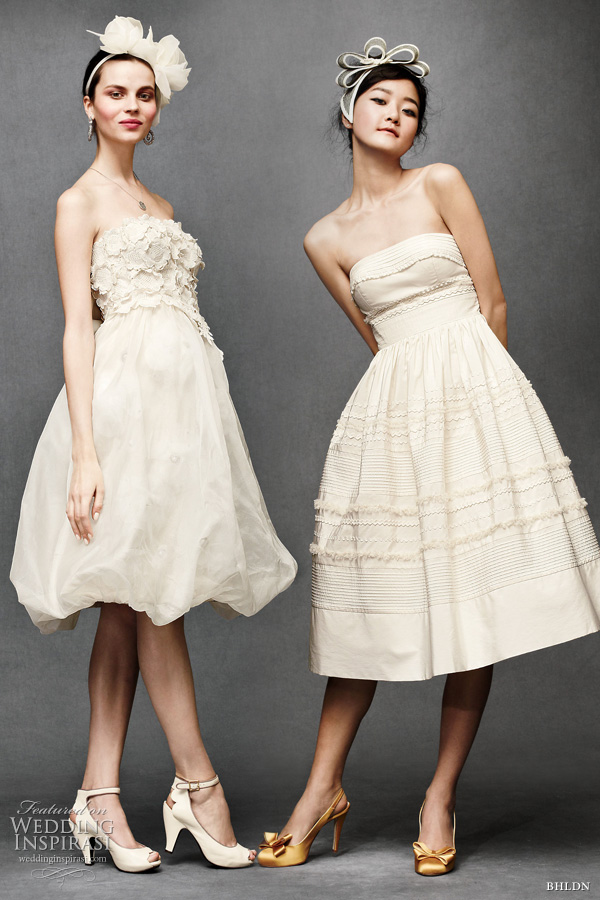 bhldn anthropologie wedding - short bridal dresses: Floral artwork dress, Fondant tea dress