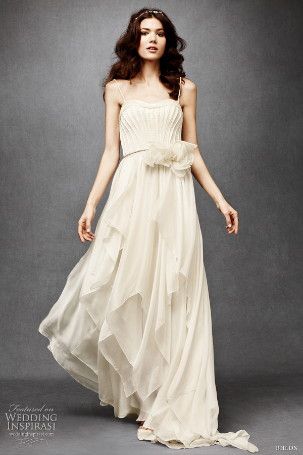 bhldn wedding dresses 2011 - cascading goddess gown Catherine Deane