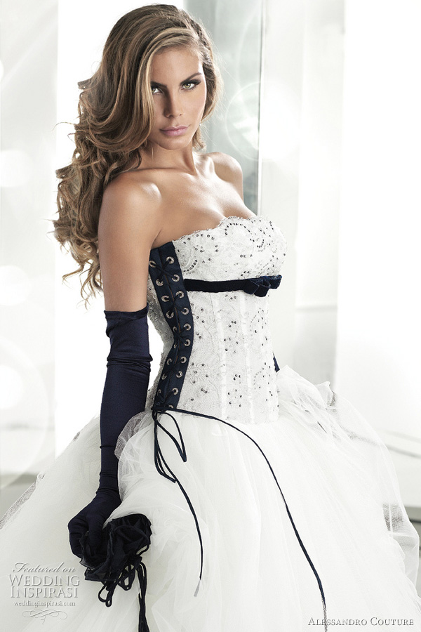 Black And White Wedding Dresses Pictures. lack and white wedding dress