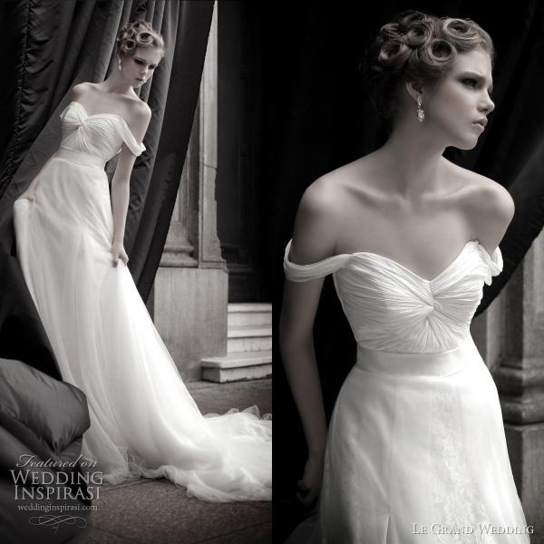 grand wedding dress 2011 - grecian drape gown