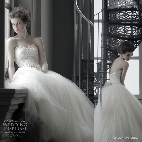 le grand wedding 2011 - strapless ball gown