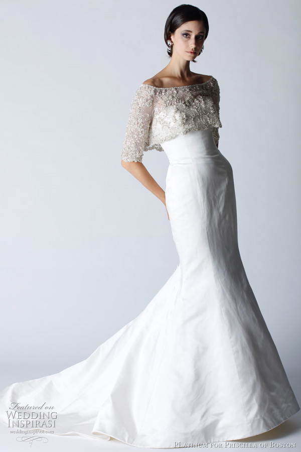 Platinum for priscilla of boston fall 2011 wedding dresses for Discount wedding dresses boston