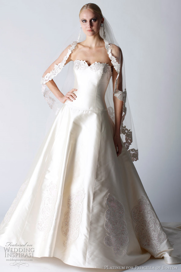 platinum for priscilla of boston fall 2011 wedding dresses
