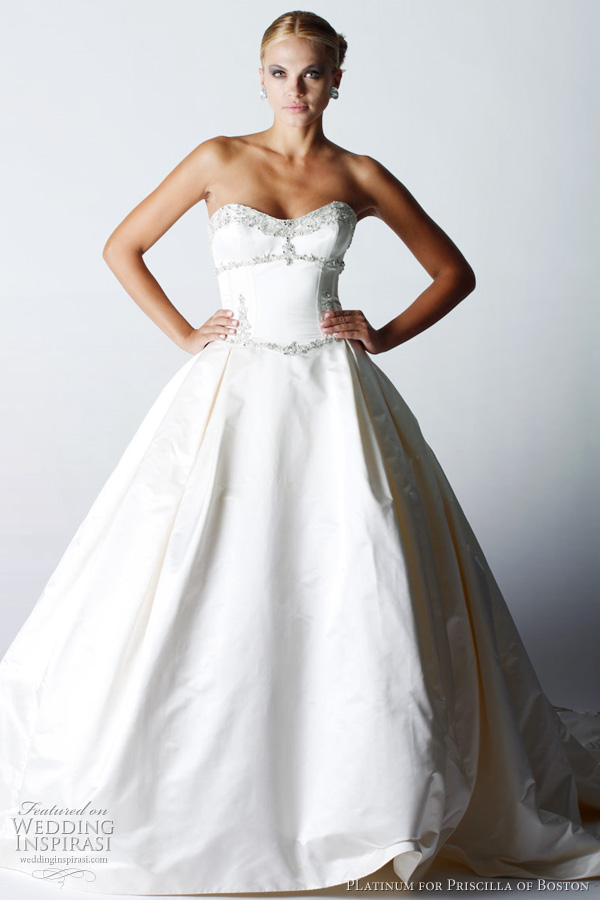 Platinum For Priscilla Of Boston Fall 2011 Wedding Dresses