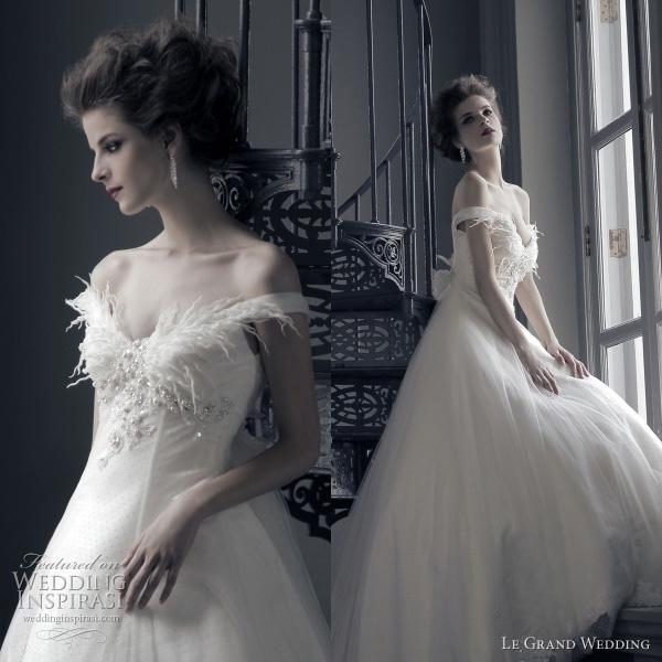 romantic wedding dresses off shoulder bridal gown