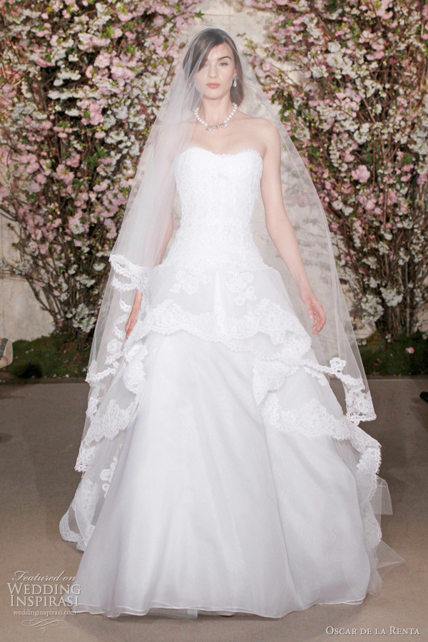2017 Oscar De La A Bridal Ball Gown Wedding Dress