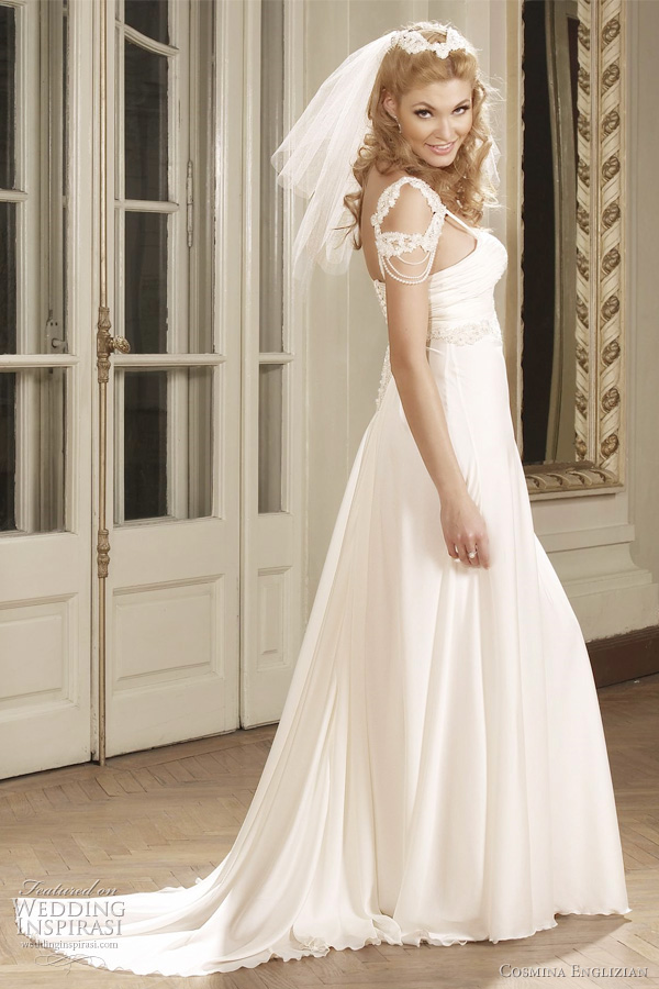 audrey wedding dress from cosmina englizian couture bridal collection, romania