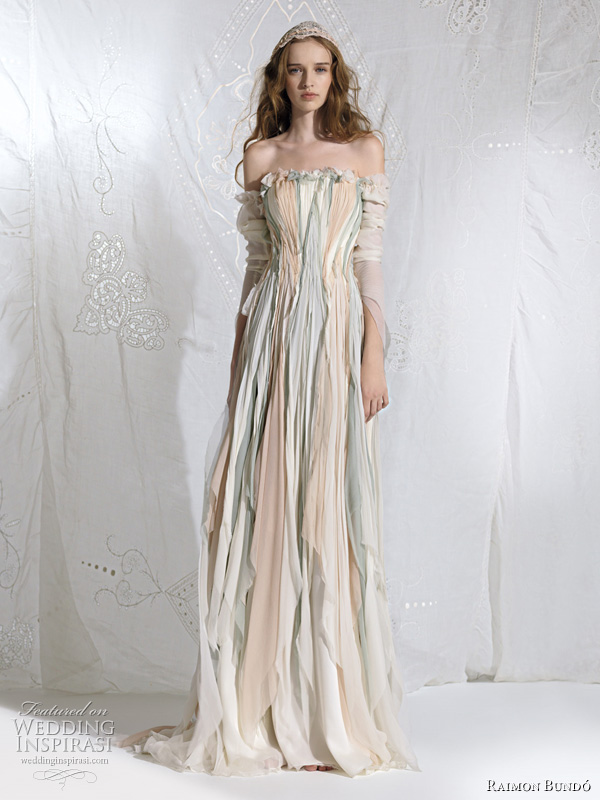 bohemian princess fairy wedding dress - Oceania bridal gown