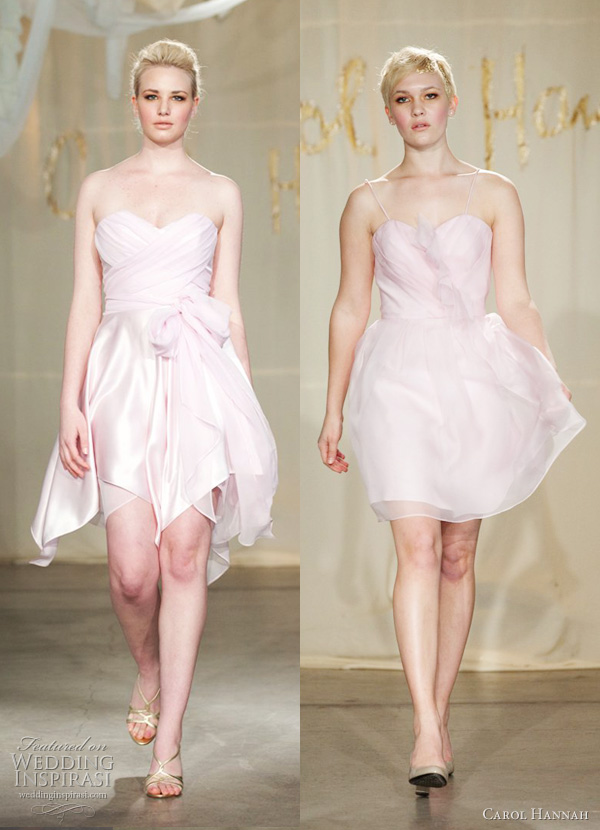 carol hannah 2012 short pink wedding dresses - Sassafrass, Dogwood
