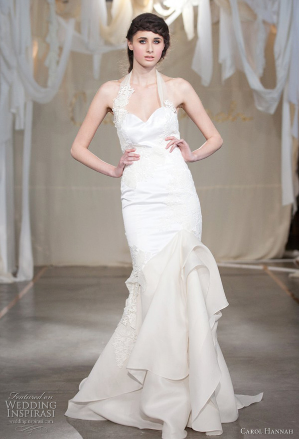 carol hannah spring 2012 wedding dress satin leaf