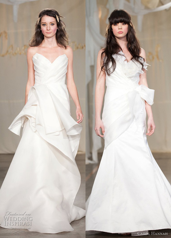 carol hannah wedding dresses spring 2012 - poplar and white cedar