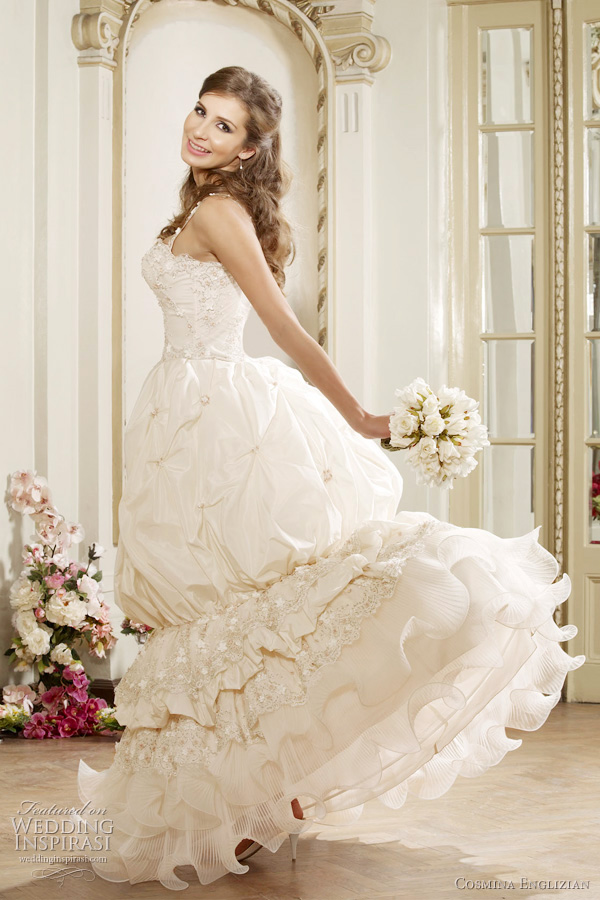 cute wedding dresses from cosmina englizian rochii de mireasa bridal collection