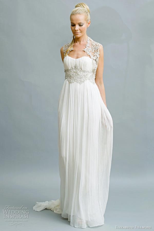 Silver Wedding Gown 80 Fresh elizabeth fillmore bridal