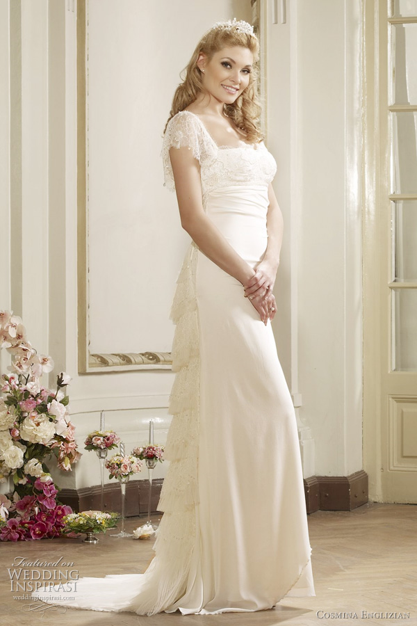 elizabeth wedding dress from cosmina englizian couture bridal collection, romania