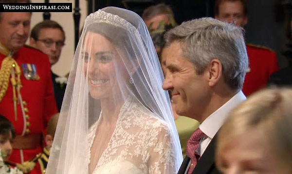 kate middleton and her father Michael at the royal wedding in Westminster Abbey on 29 April 2011