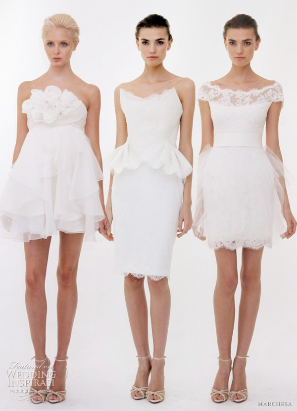 Marchesa wedding dresses spring 2012 wedding inspirasi for Short wedding dresses 2012
