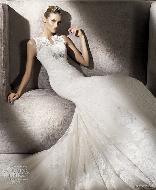 palace wedding dress pronovias 2012 bridal collection