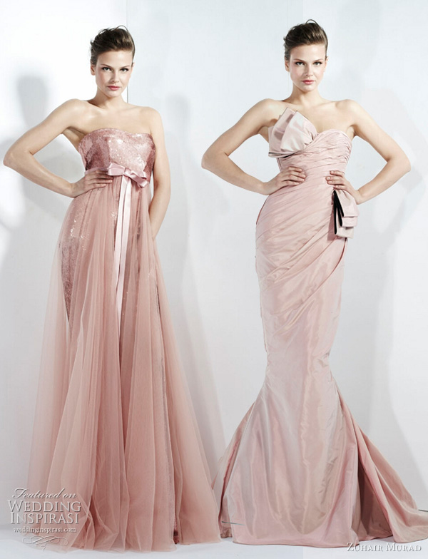 pink wedding dresses zuhair murad