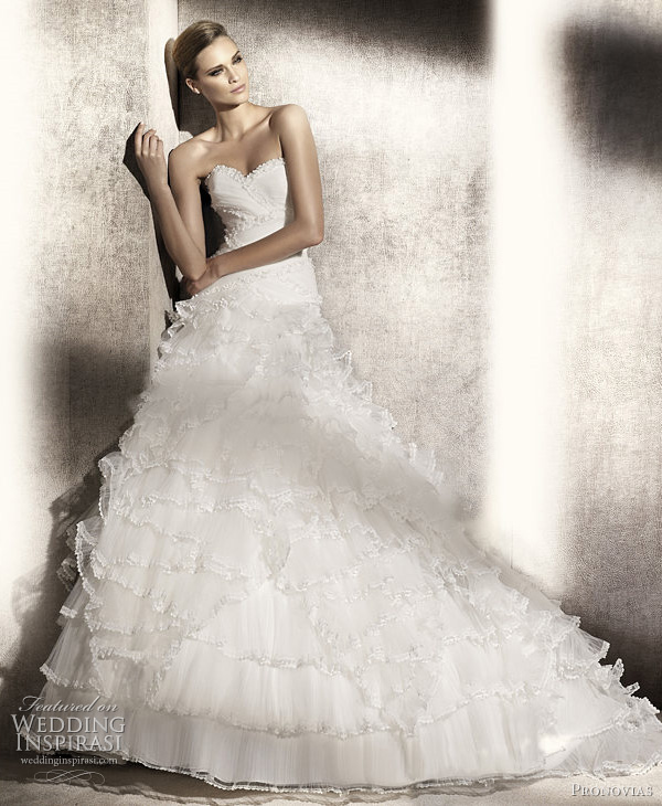 Satin Wedding Ball Gowns 99 Vintage pronovias pampa wedding dress
