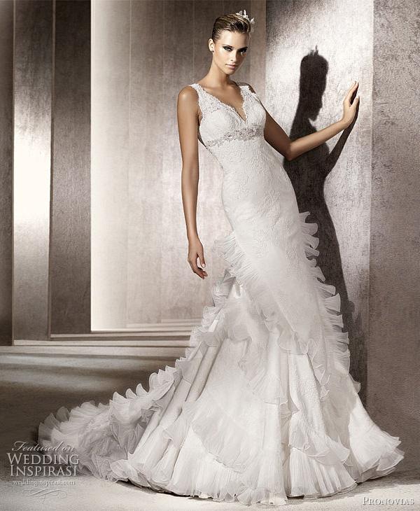 Wedding Dress Ruffle 88 Superb pronovias penelope wedding dresses