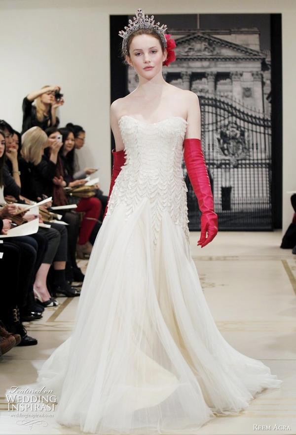 reem acra 2012 bridal collection