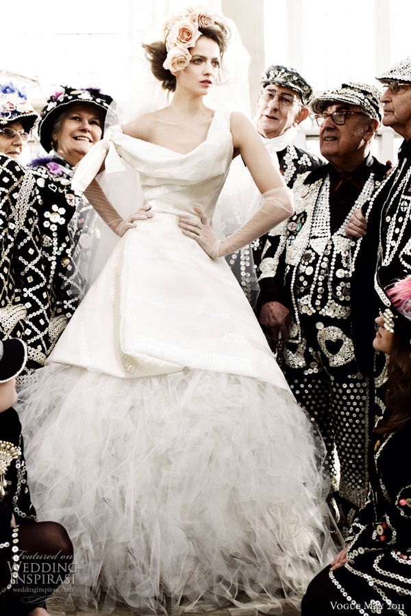 vivienne westwood wedding dresses on Vivienne Westwood Wedding Dress Vogue   Model Irina In A Silk Gown