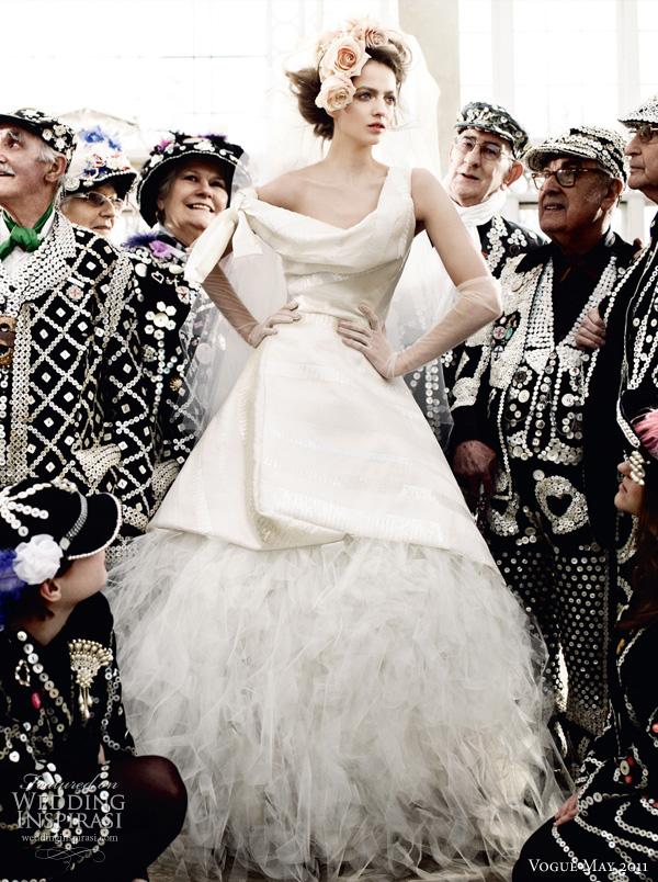 "Vogue Wedding May 2011 - Mario Testino bridal photo shoot ""Wedding Belles"""