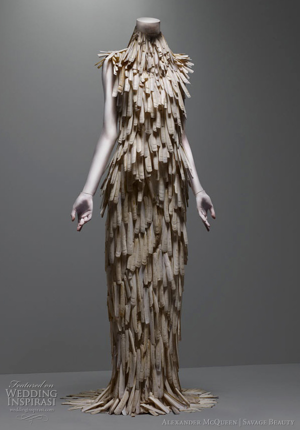wedding dress inspiration from the savage beauty exhibition at The Costume Institute of the Metropolitan Museum of Art, New York