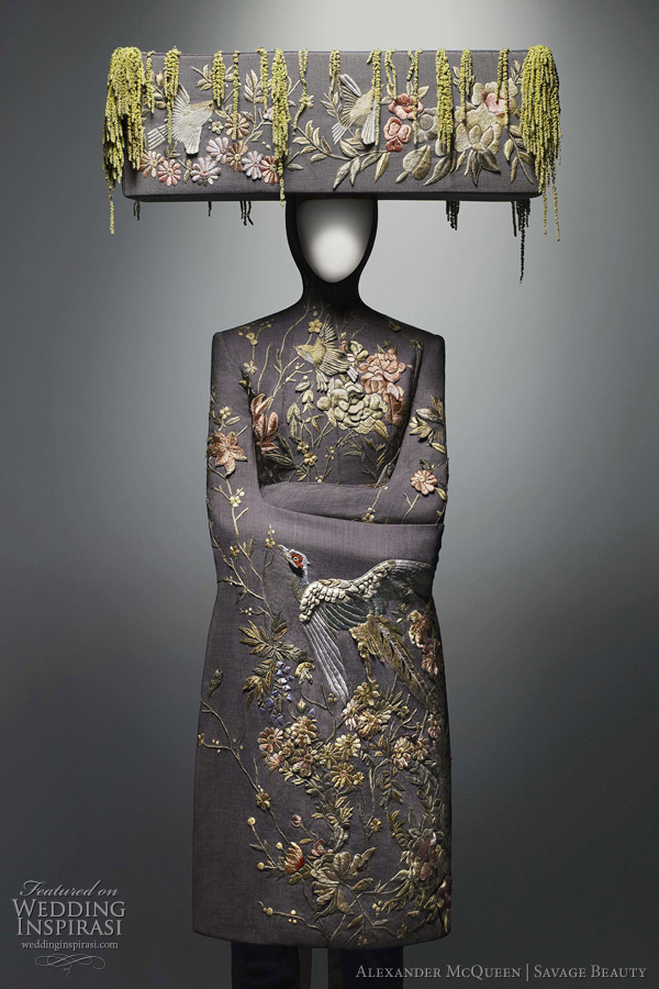alexander mcqueen savage beauty - 2011 wedding dress inspiration from the savage beauty exhibition at The Costume Institute of the Metropolitan Museum of Art, New York