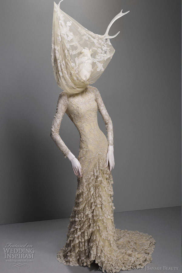 Alexander Mcqueen Wedding Dresses 2017 Inspiration From The Savage Beauty Exhibition At Costume Insute