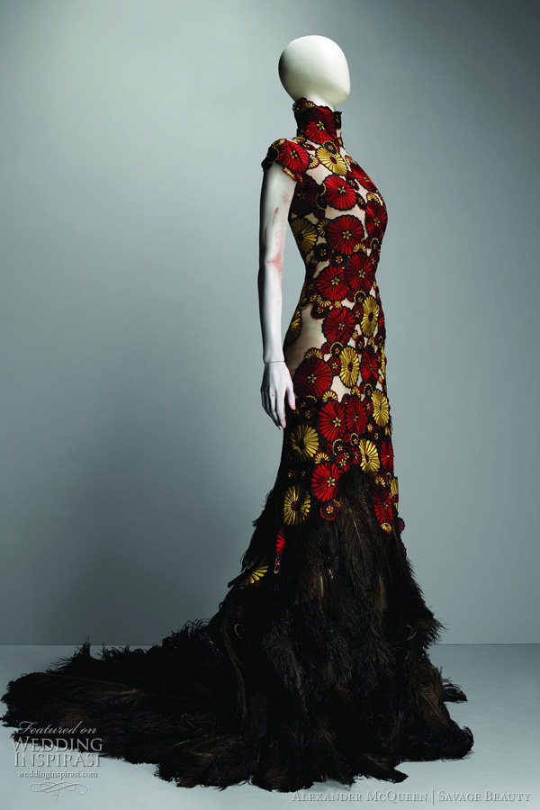 Alexander Mcqueen Wedding Dresses Collection 2017 Bridal Inspiration From The Savage Beauty Exhibition At Costume