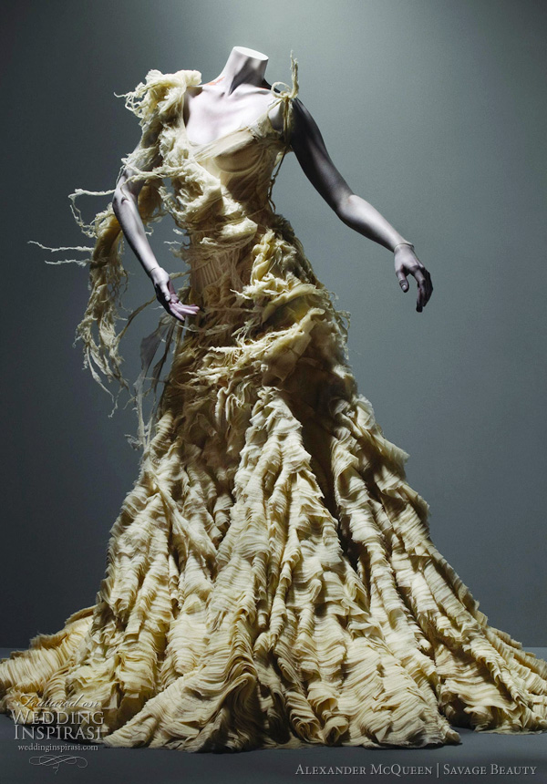 alexander mcqueen wedding dresses 2011 inspiration from the savage beauty exhibition at The Costume Institute of the Metropolitan Museum of Art, New York