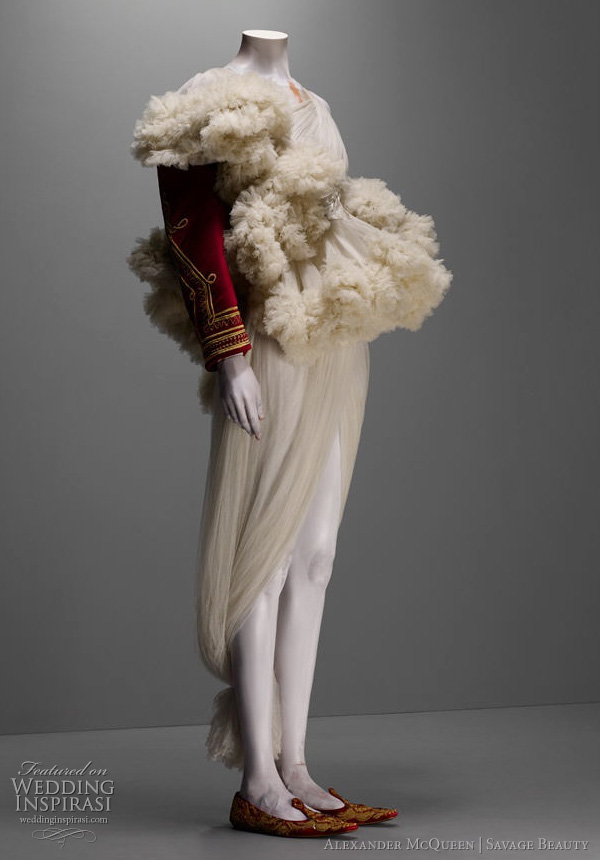 alexander mcquen royal dress inspiration - from the savage beauty exhibition at The Costume Institute of the Metropolitan Museum of Art, New York