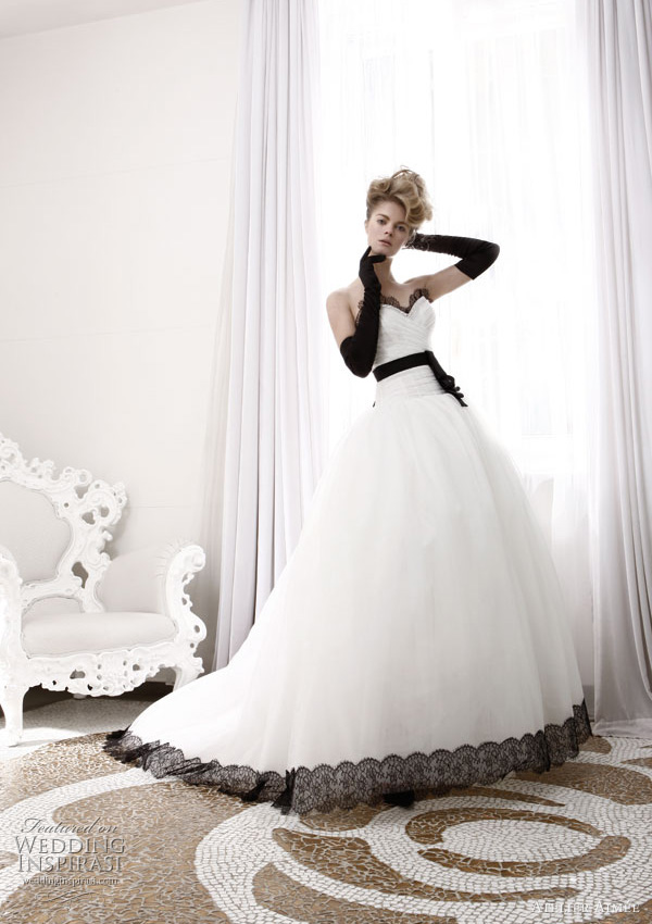 black and white wedding dresses