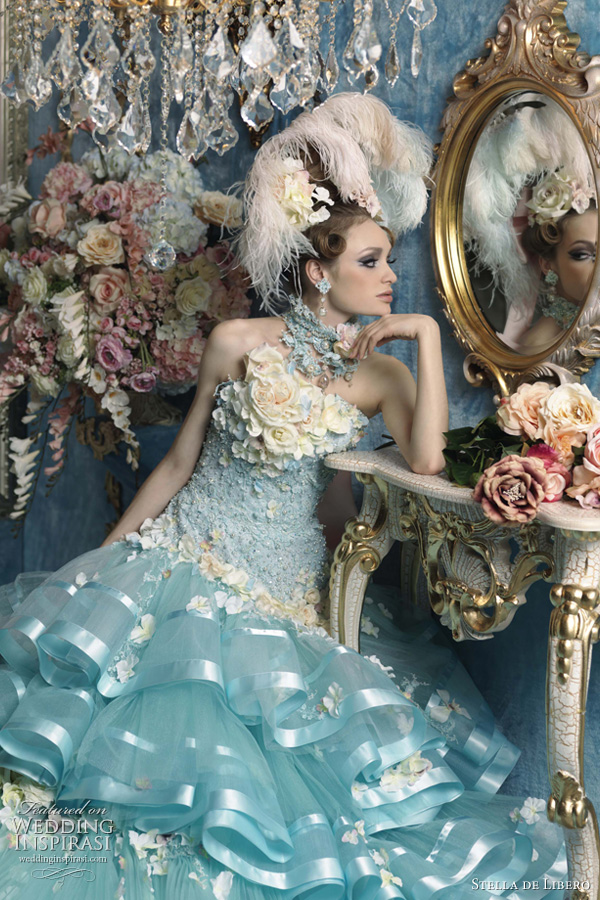 blue wedding dress stella de libero 2011