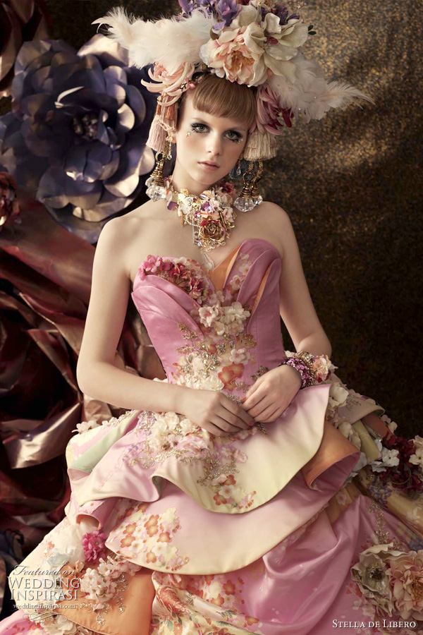 color wedding dresses 2011 - multi-color bridal gown by Stella de Libero, japan