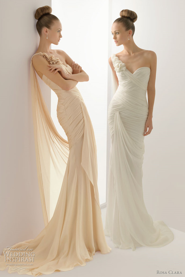 Rosa clara 2012 wedding dresses color bridal gowns and for Wedding dresses in color