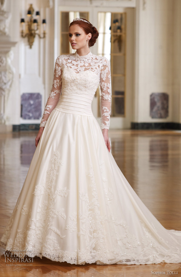 kate middleton grace kelly inspired wedding dress - Fabianna by Sophia Tolli